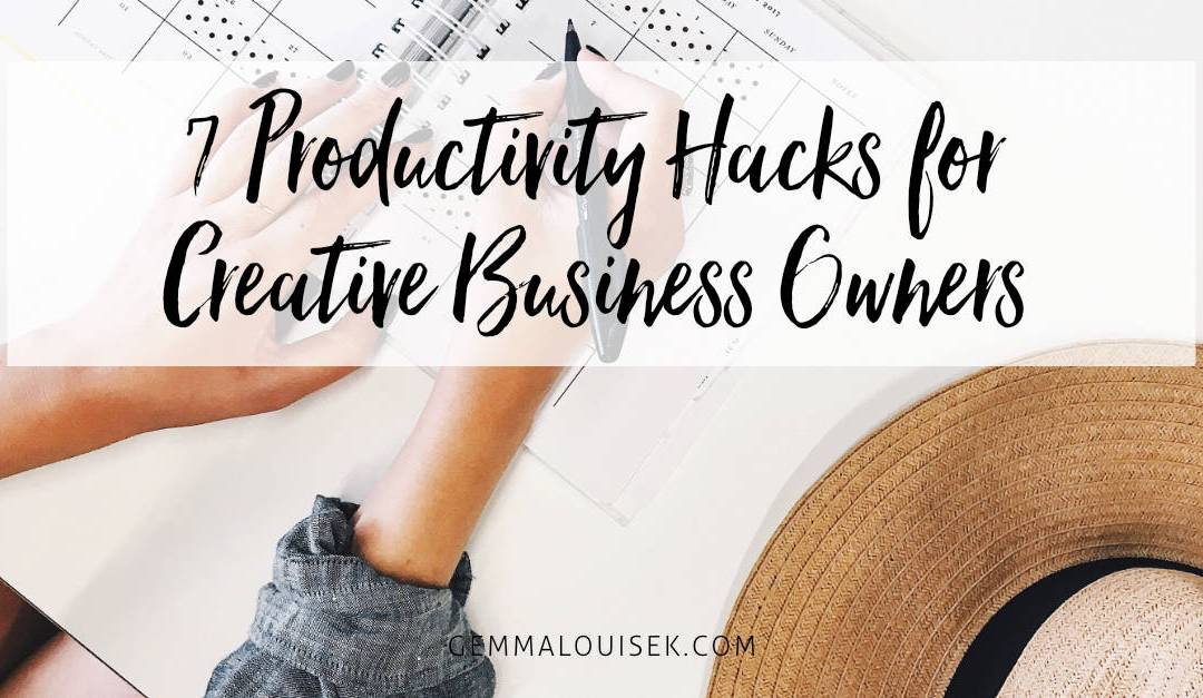 7 Productivity Hacks for Creative Business Owners