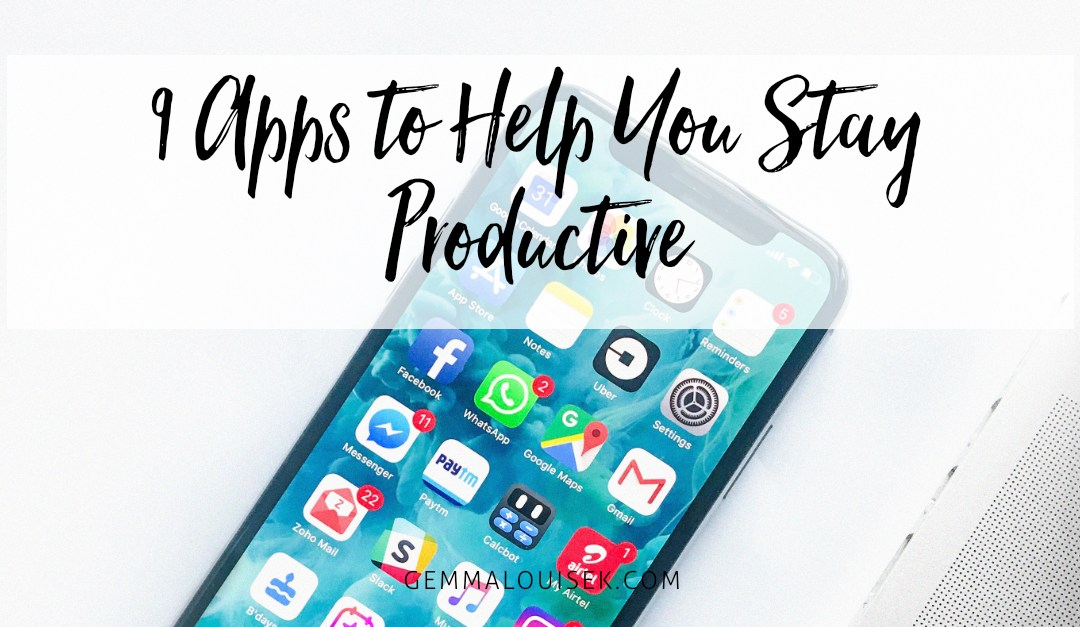 9 Apps to Help You Stay Productive
