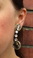 Art Deco Style Earrings, 1970s, Gemma Redmond Vintage