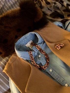 Dress: Levis Jacket: MaxMara Hat: Oberwalder and Co Parure: Renoir Matisse, 1960s, Gemma Redmond Vintage