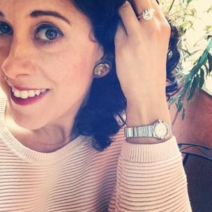 Earrings: Joseff of Hollywood, 1940s, Gemma Redmond Vintage Ring: 1980s, Gemma Redmond Vintage