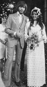 Image: Barry Gibb and Linda Grey - plumedserpentbridal.com