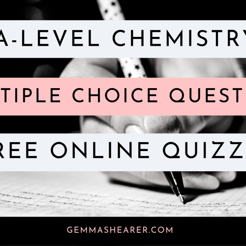 A-level Chemistry multiple choice questions