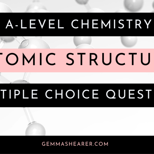 atomic structure multiple choice questions