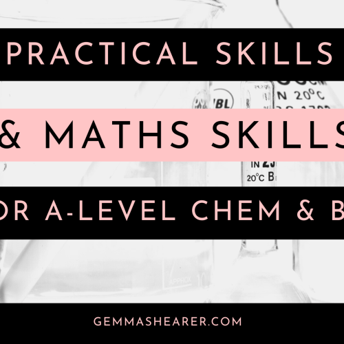Practicals maths a-level chemistry and biology