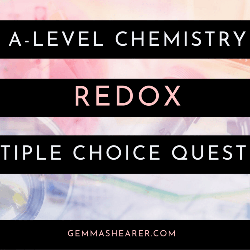 redox multiple choice questions