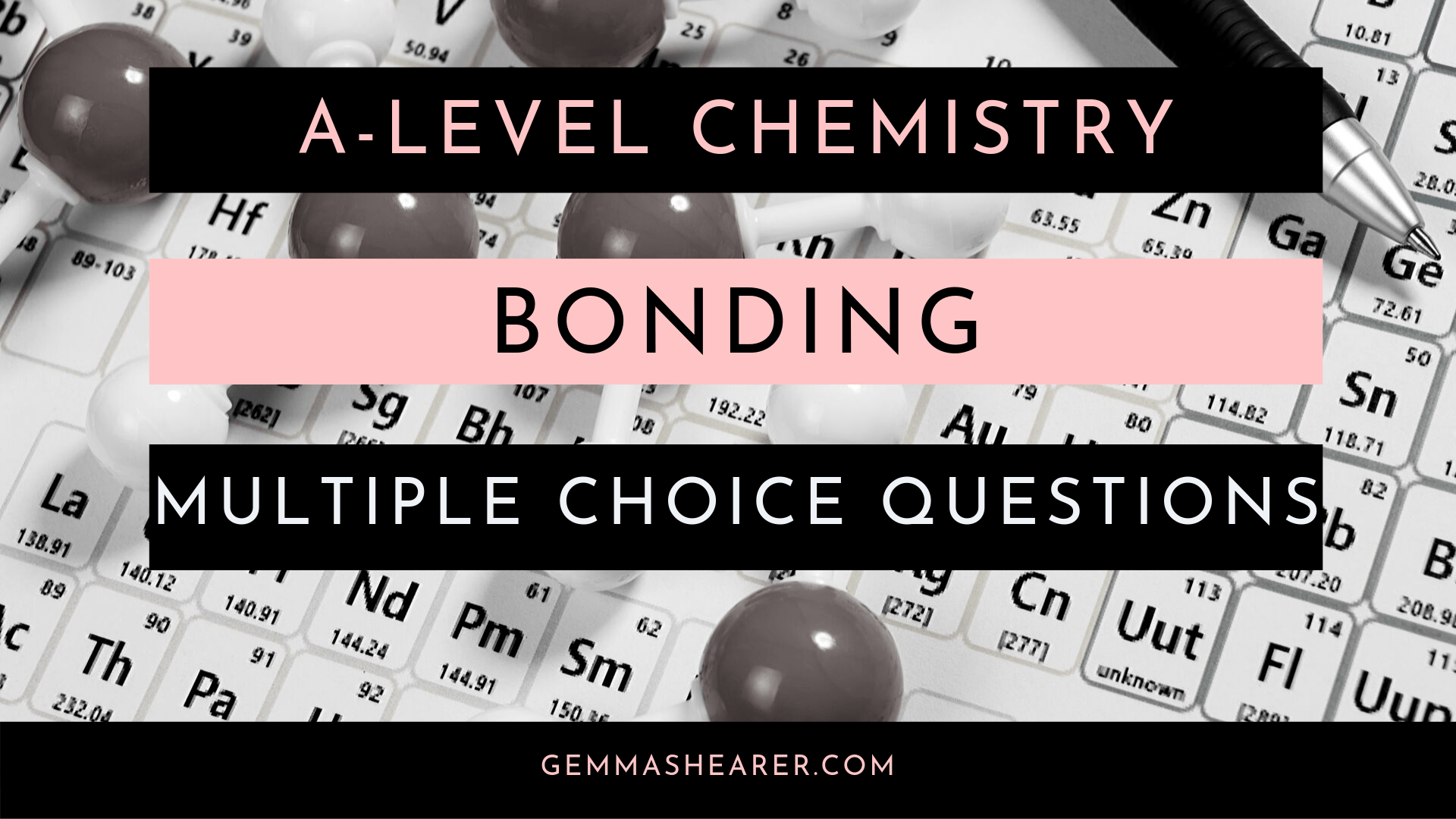 A-level chemistry bonding multiple choice questions