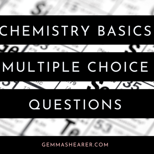 chemistry basics multiple choice questions