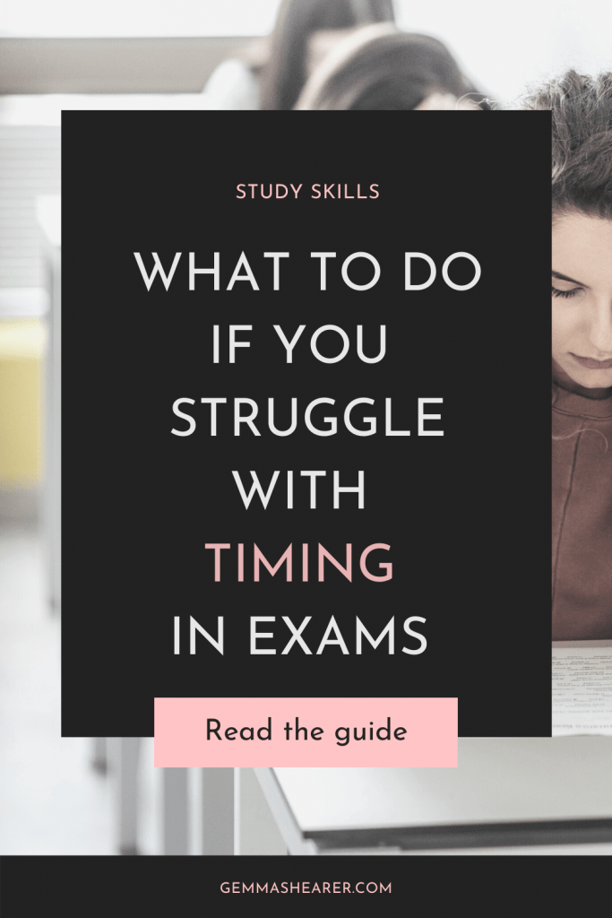 Struggle with timing in exams