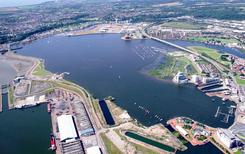 800px Cardiff Bay Aerial View - Wonderful Wales
