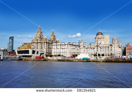 stock photo liverpool waterfront with river mersey in foreground 591354821 - Sizzling Summer Staycations: The Best UK Holiday Spots