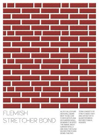 Flemish Stretcher Bond Poster ORIGINAL COLOUR