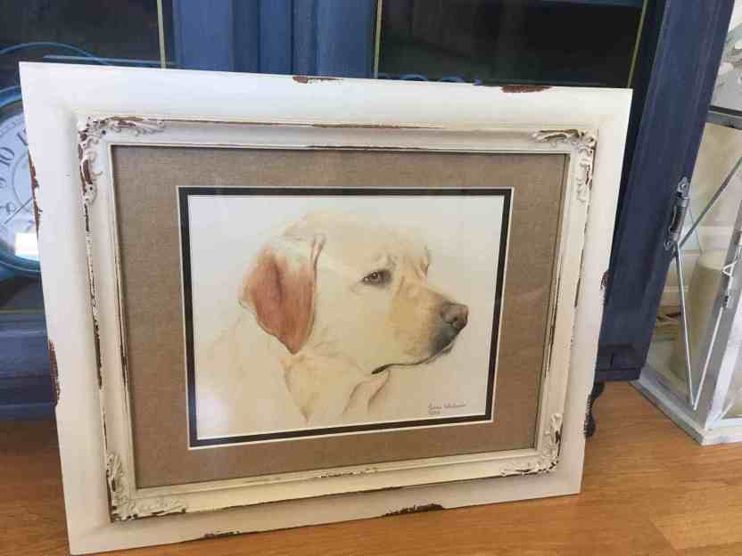Dog Portrait framed