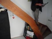 Treppe ohne Geländer