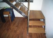 Treppenstufen Eiche mit Podest