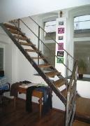 Treppenstufen Eiche auf Metall-Treppengestell