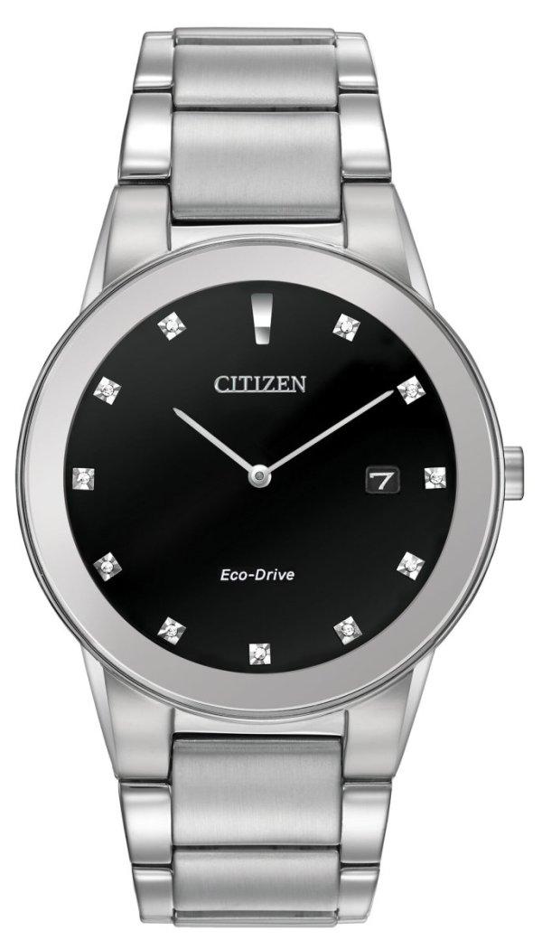CITIZEN CITIZEN Axiom Men's Edge-To-Edge Glass Watch - Stainless Steel - Gemorie