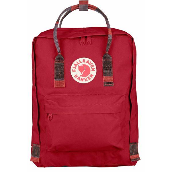 FJALLRAVEN FJALLRAVEN Kanken Backpack - Deep Red-Random Blocked - Gemorie