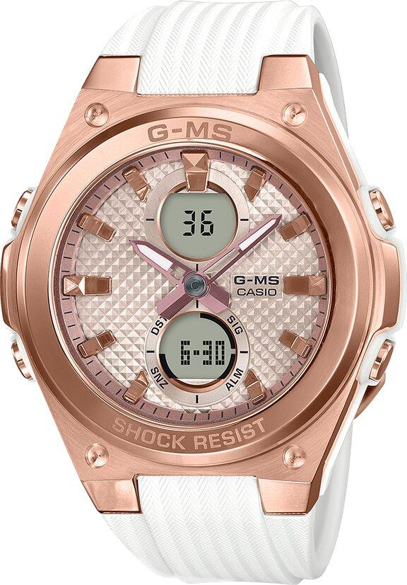G-SHOCK G-SHOCK 100M 1/100 Second Stopwatch Women's Watch - White & Rose Gold - Gemorie