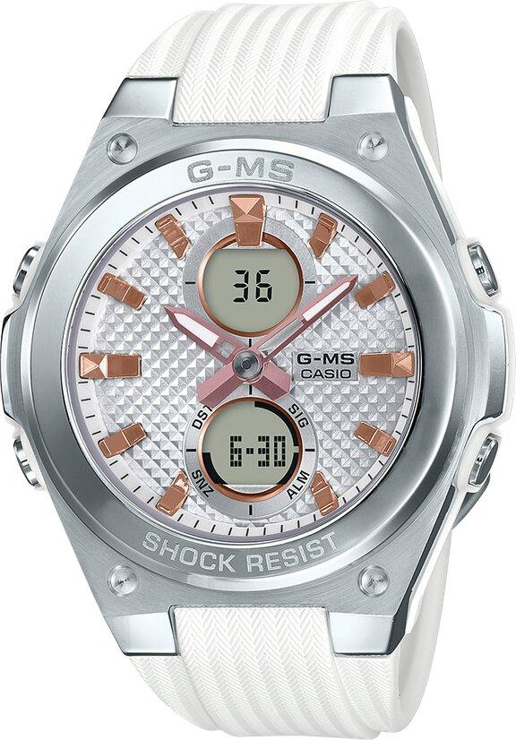 G-SHOCK G-SHOCK 100M Water Resistant Resin Band Women's Watch - White & Stainless Steel - Gemorie