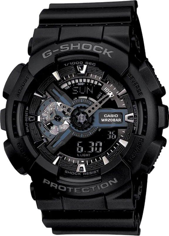 G-SHOCK G-SHOCK Amber LED Analog Digital Watch - Black - Gemorie