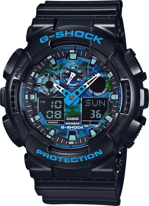 G-SHOCK G-SHOCK Auto LED Light Blue Color Series Men's Watch - Black - Gemorie