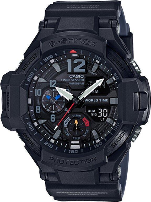 G-SHOCK G-SHOCK Bearing Memory Bidirectional Calibration Men's Watch - Black - Gemorie