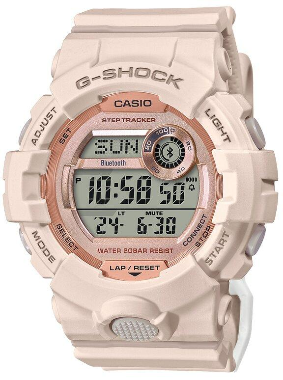 G-SHOCK G-SHOCK Bluetooth Connected Step Count Resin Band Women's Watch - Beige - Gemorie