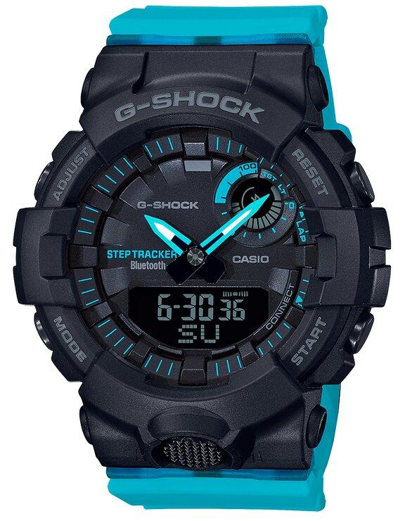 G-SHOCK G-SHOCK Bluetooth Smart Phone Compatible Step Counter Women's Watch - Blue and Black - Gemorie