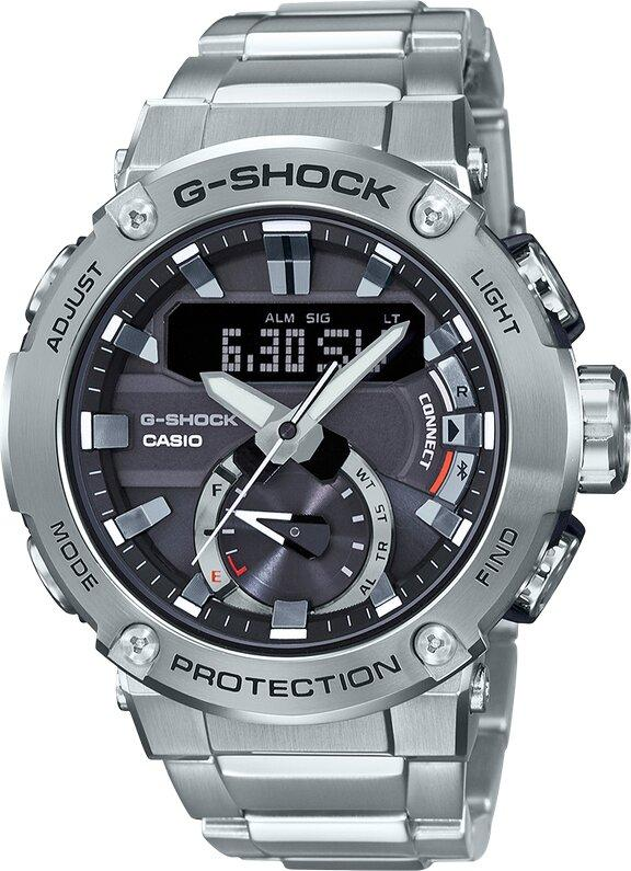 G-SHOCK G-SHOCK Double LED Light Mineral Glass Men's Watch - Stainless Steel - Gemorie