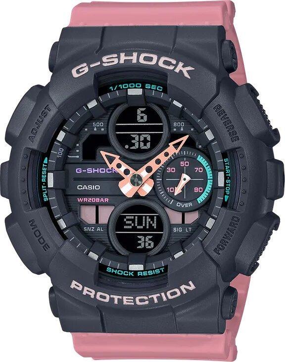 G-SHOCK G-SHOCK Fashionable GMAS140-4A Women's Watch - Pink & Grey - Gemorie