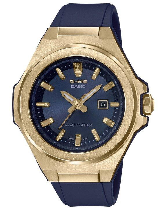 G-SHOCK G-SHOCK G-MS Ion Plated Case 100M Water-Resistant Women's Watch - Navy & Gold - Gemorie