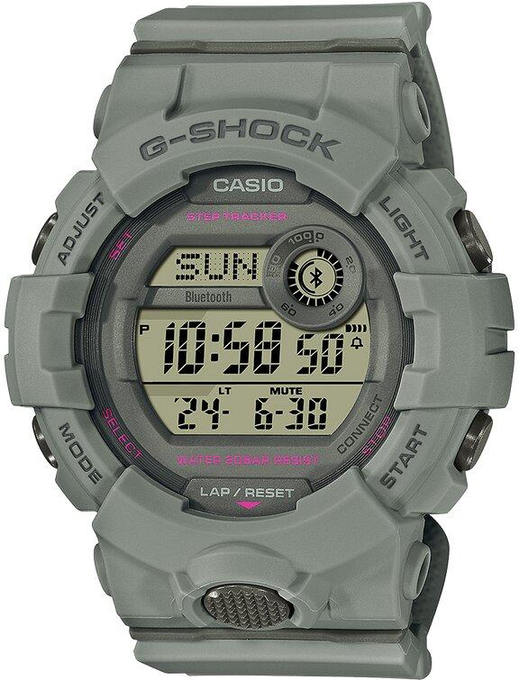 G-SHOCK G-SHOCK G-SQUAD Mobile Link Dual Time Women's Watch - Grey - Gemorie