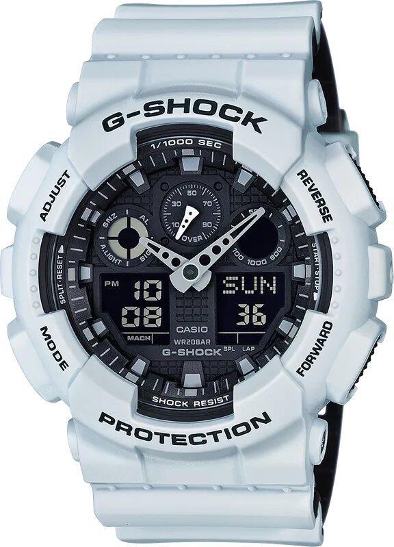 G-SHOCK G-SHOCK GA100L-7A Men's Analog Digital Watch - White - Gemorie