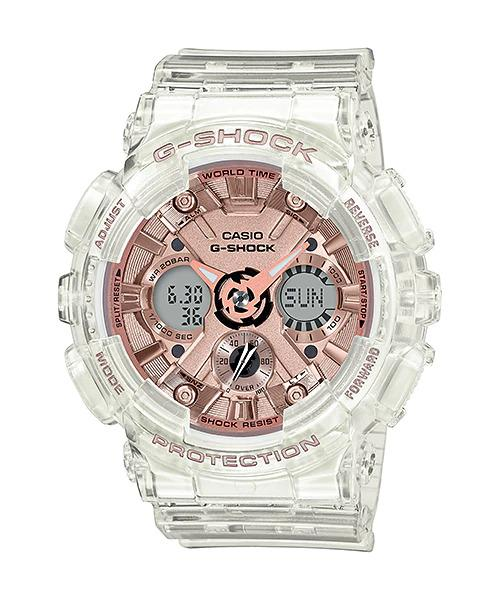 G-SHOCK G-SHOCK GMA-S120SR-7A CLEAR AND ROSE GOLD - Gemorie