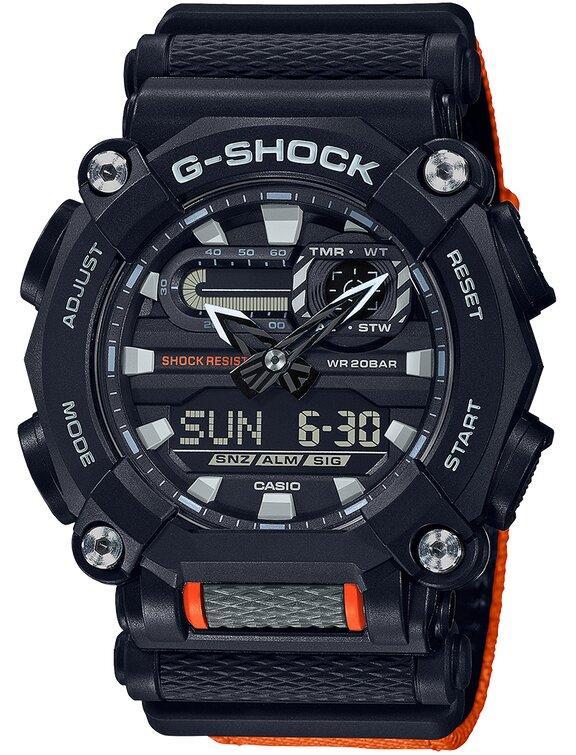 G-SHOCK G-SHOCK Heavy Duty Super Led Light Men's Watch - Black and Orange - Gemorie