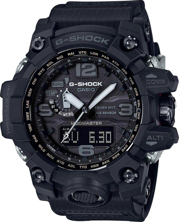 G-SHOCK G-SHOCK MUDMASTER Digital Compass and Barometer Men's Watch - Black - Gemorie