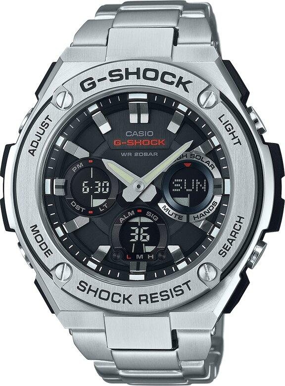 G-SHOCK G-SHOCK True Toughness Shock Resistant Auto Calendar Men's Watch - Stainless Steel - Gemorie