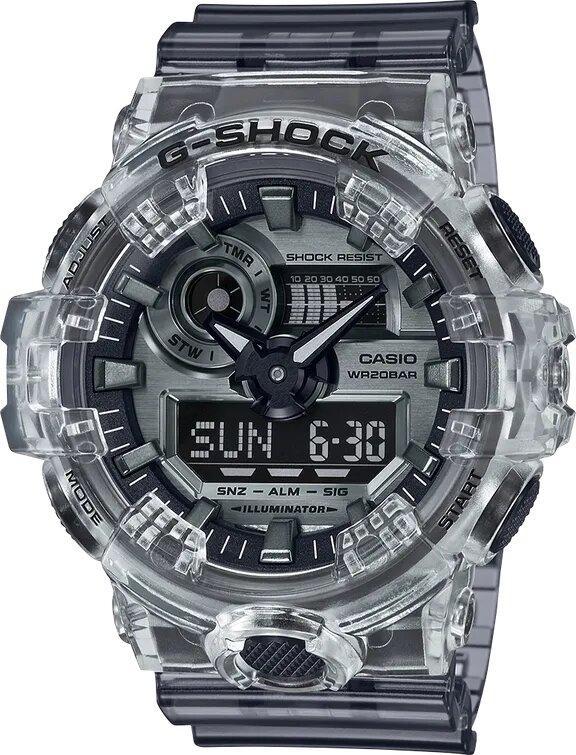 G-SHOCK G-SHOCK Water- Resistant Men's Analog Digital Watch - Clear - Gemorie