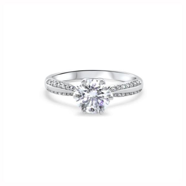 "GEMODA GEMODA ""J'Adore"" Moissanite 1ctw Brilliant Round 18k Gold Engagement Ring - Gemorie"