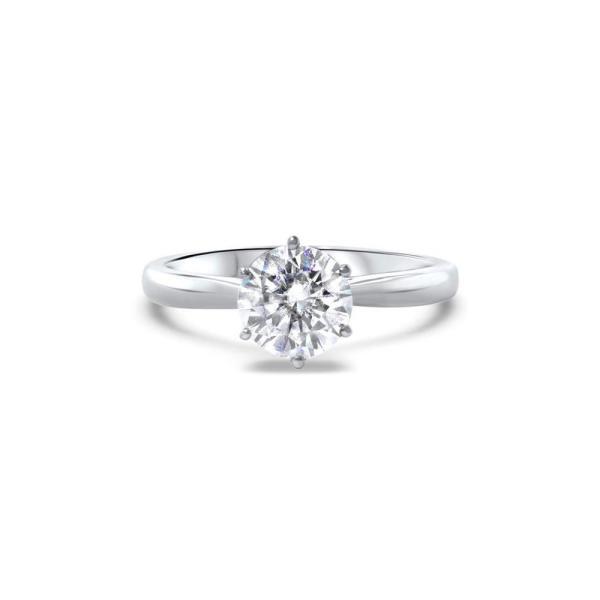"GEMODA GEMODA ""Martini"" 1ctw Brilliant Round Moissanite Solitaire Martini Prong Engagement Ring - Gemorie"