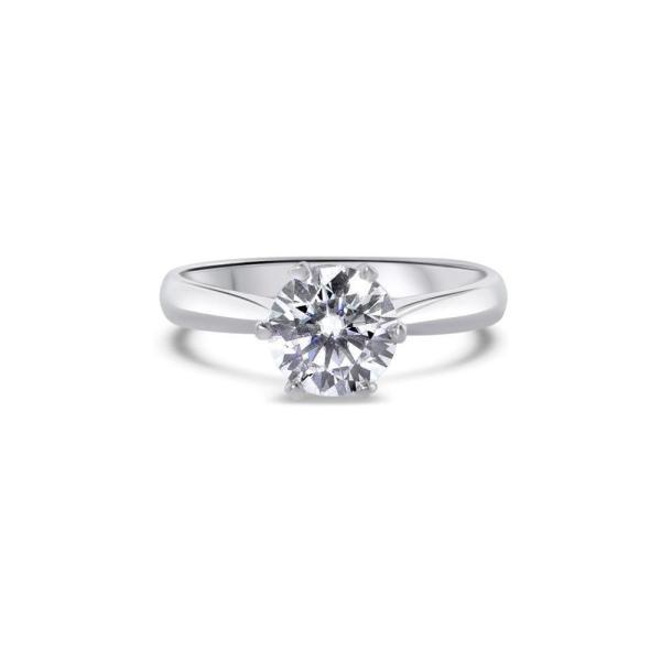 "GEMODA GEMODA ""Timeless"" Moissanite 1ctw Moissanite Round Solitaire 18k Engagement Ring - Gemorie"