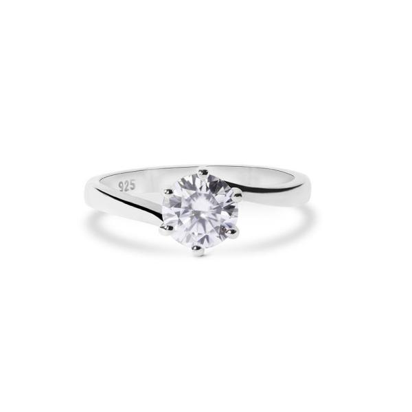"GEMODA GEMODA ""Willa"" Tension Band Moissanite Ring in 925 Sterling Silver - Gemorie"