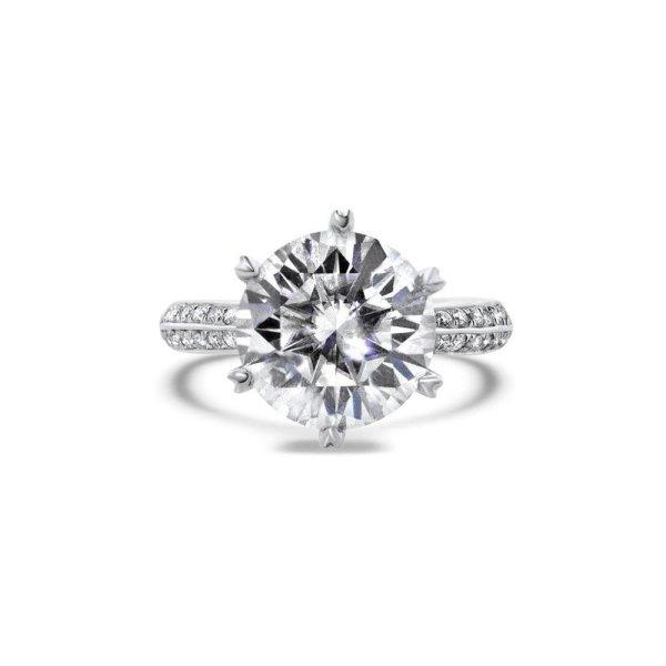 "Gemorie GEMODA ""Enchanted"" Moissanite 5ctw Signature Pave 18k Engagement Ring - Gemorie"