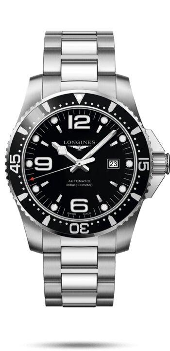 LONGINES LONGINES HydroConquest 44MM Unidirectional Rotating Bezel Men's Watch - Stainless Steel - Gemorie