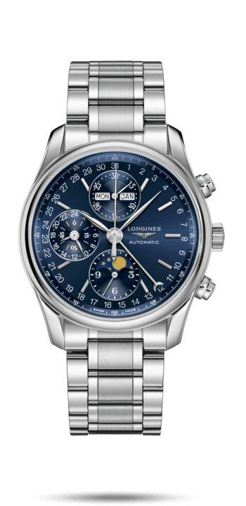 LONGINES LONGINES Master Column Wheel Chronograph Men's Watch - Stainless Steel - Gemorie