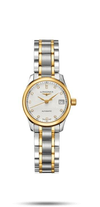 LONGINES LONGINES Master Round Sapphire Crystal Women's Watch - 18 Karat Yellow Gold & Stainless Steel - Gemorie