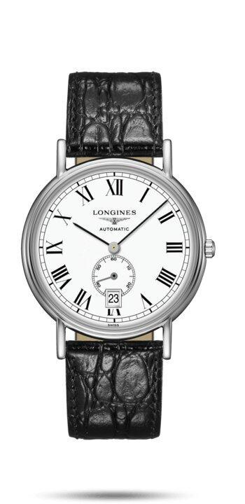 LONGINES LONGINES Présence Collection Leather Men's Watch - Black - Gemorie