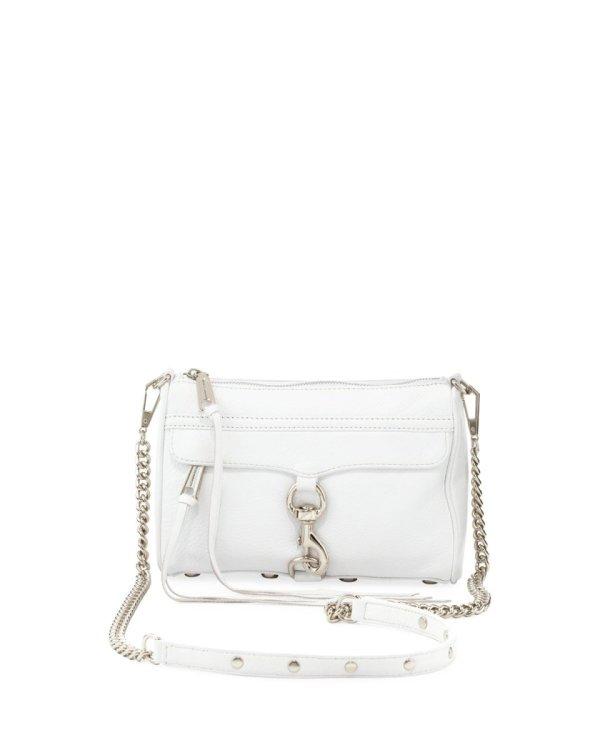 Rebecca Minkoff REBECCA MINKOFF Mini M.A.C. Handbag Optic White - Gemorie