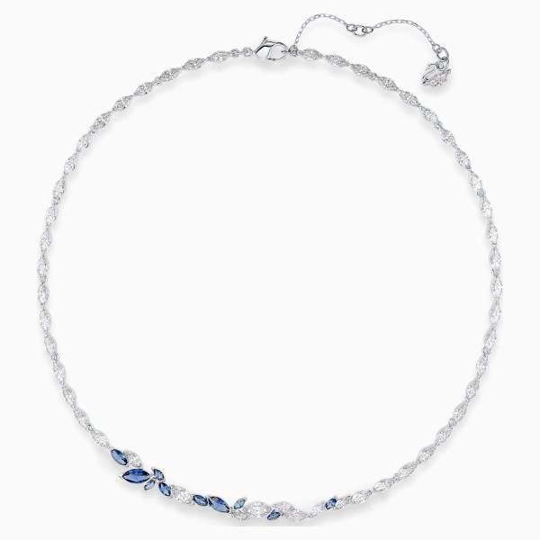 Swarovski SWAROVSKI 125th Anniversary Louison Necklace - Blue & Rhodium Plated - Gemorie